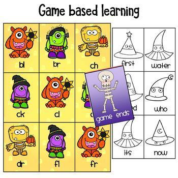 Halloween Literacy Centers for Kindergarten and First Grade Bundle