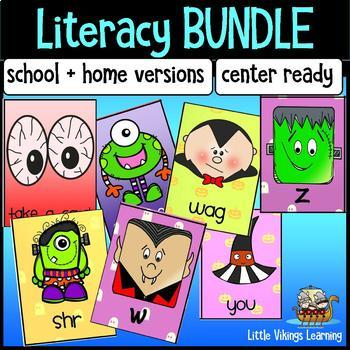 Halloween Literacy Centers Bundle