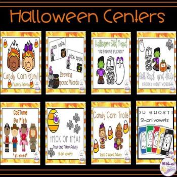 Halloween Literacy Centers Bundle