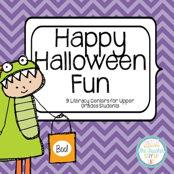 "Halloween Literacy Centers for ""Big Kids"""