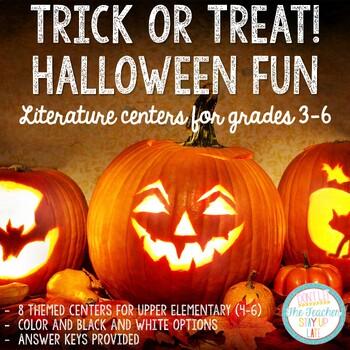 "Halloween Literacy Centers for ""Big Kids"""