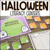 Halloween Literacy Centers (Second or Third Grade)
