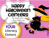 Halloween Literacy Games and Centers for 1st Grade with Smartboard Lessons