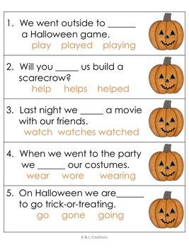Halloween Literacy Centers/Task Cards for Second Grade
