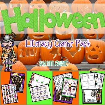 Halloween Literacy Game Pack - Games for Centers and Large Group