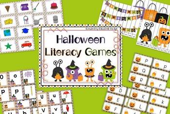 Halloween Literacy Games