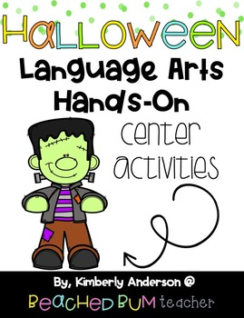 BUNDLE: Halloween Literacy / Grammar / Language Arts Centers (8 Products)