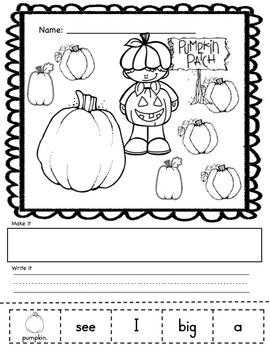 Halloween Literacy- Kindergarten