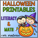 Halloween Printables - Literacy & Math