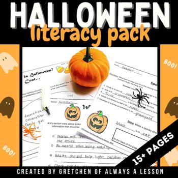 Halloween Literacy Activities Pack