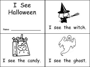 Halloween Literacy Practice Pages Kindergarten- beginning sounds and more
