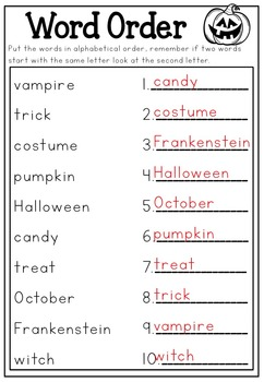 Halloween Literacy Printable No Prep Packet