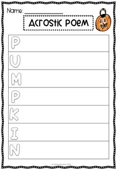 Halloween Literacy Printables - Print & GO!
