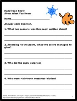Halloween Literacy Reading and Writing Printables