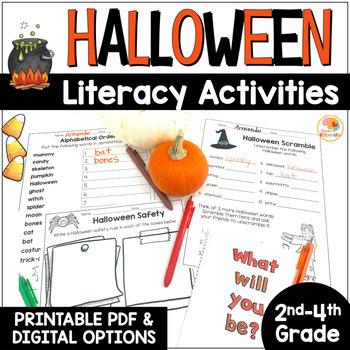 Halloween Literacy Activities NO PREP