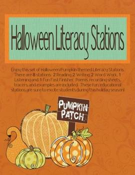 Halloween Literacy Stations