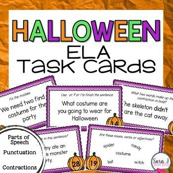 Halloween Literacy Task Cards