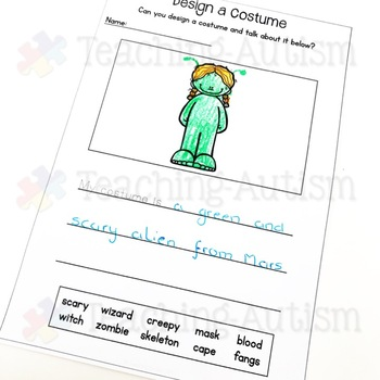 Halloween Literacy Worksheets