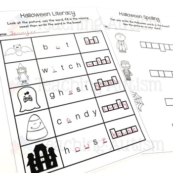 Halloween Worksheets ELA