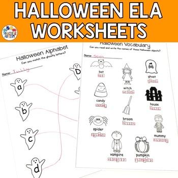 Halloween Literacy Worksheets
