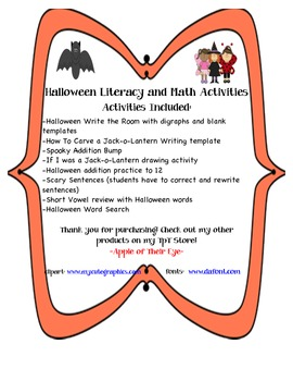 Halloween Literacy and Math Activities (Common Core Aligned)