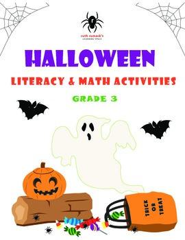 Halloween Literacy and Math Activities - 3rd Grade
