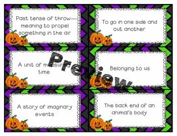 Halloween Literacy and Math Center Bundle