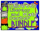 Halloween Literacy and Math Center Bundle