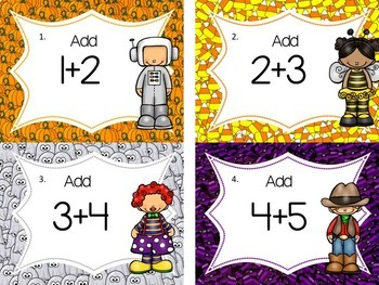 Halloween Literacy and Math Centers Bundle