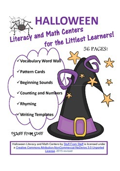 Halloween Literacy and Math Centers for the Littlest Learners