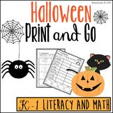 Halloween Print and Go - No Prep K-1