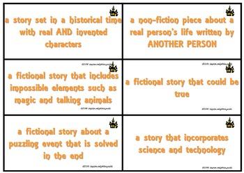 Halloween Literary Genre Vocabulary Activities
