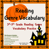 Halloween Literary Genre Vocabulary Activities
