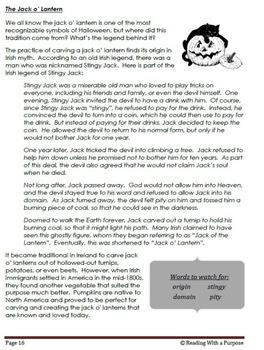 Halloween Literature: 4th Grade Common Core