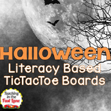 Halloween Literature Based TicTacToe Choice Board Bundle