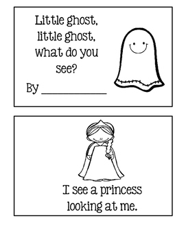 Halloween ~ Little Ghost, Little Ghost, What Do You See?