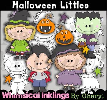 Halloween Littles Clipart Collection
