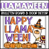 Halloween Llama Bulletin Board or Door Decoration