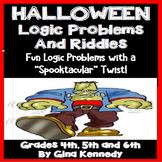 Halloween Logic Problems, Brainteasers, Puzzles and Riddles