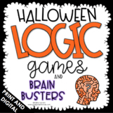 Halloween Activities - Halloween Math - Logic Games - Brai