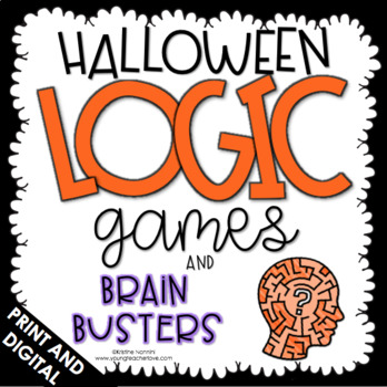 Logic Puzzles - Halloween Activities - Brain Teasers - Fall