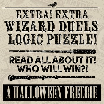 "Halloween Logic Puzzle FREEBIE!! ""Wizard Duels"""