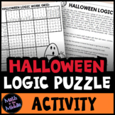 Halloween Logic Puzzle for Middle School - Halloween Math Activity