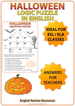 Halloween Logic Puzzle in English