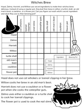 Halloween Logic Puzzles ~ 5 Puzzles ~ No Prep!