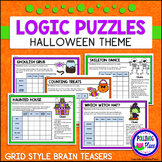 Halloween Logic Puzzles - Brain Teaser Puzzles with Grids