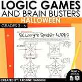 Halloween Logic Puzzles - Brain Teasers - Fall - October