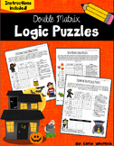 Halloween Logic Puzzles -  Double Matrix