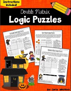 Halloween Logic Puzzles -  Double Matrix