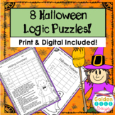 Halloween Logic Puzzles Print or Google Paperless! Critical Thinking!